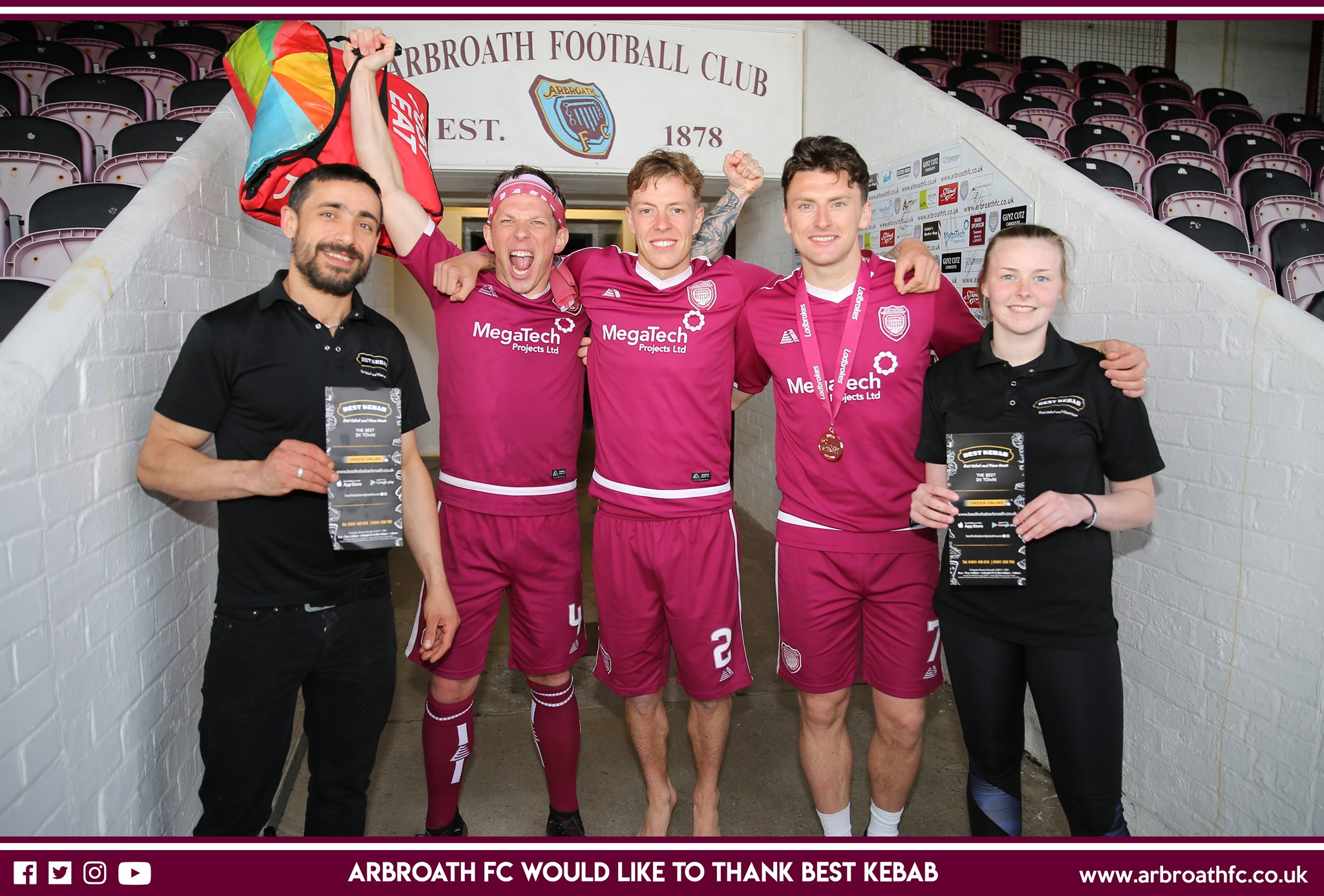 Thank You To Best Kebab And Pizza House Arbroath Fc